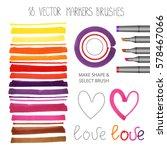 watercolor markers brush... | Shutterstock .eps vector #578467066