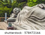 sleeping buddha at the long son ... | Shutterstock . vector #578472166