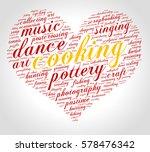 cooking. word cloud  heart ... | Shutterstock .eps vector #578476342