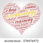 archaeology. word cloud  heart  ... | Shutterstock .eps vector #578476972