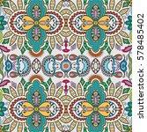 decorative hand drawn seamless... | Shutterstock .eps vector #578485402