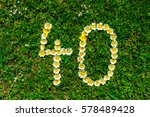 happy anniversary number forty.   Shutterstock . vector #578489428
