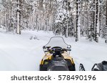 Snowmobile Is In The Winter...
