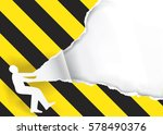 promotion man ripped paper.... | Shutterstock .eps vector #578490376