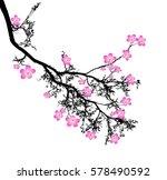 sakura blossom   japanese... | Shutterstock .eps vector #578490592