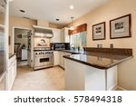 nicely remodeled kitchen with... | Shutterstock . vector #578494318