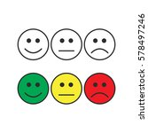 smiley emoticons  positive ... | Shutterstock .eps vector #578497246