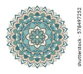 color floral mandala  vector... | Shutterstock .eps vector #578497252