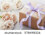 vintage rose flowers and gift... | Shutterstock . vector #578498326