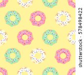 donuts seamless pattern on... | Shutterstock .eps vector #578498422