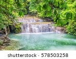 jungle landscape with turquoise ... | Shutterstock . vector #578503258