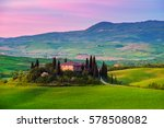 pienza  italy   april 21  2016  ... | Shutterstock . vector #578508082