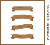 cartoon wooden plank. wood... | Shutterstock .eps vector #578509798