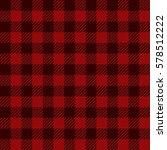 red lumberjack gingham buffalo...   Shutterstock .eps vector #578512222
