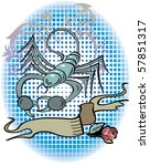 scorpio zodiac sign in tattoo... | Shutterstock .eps vector #57851317