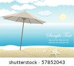 vector beach landscape | Shutterstock .eps vector #57852043