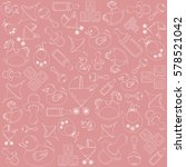 pink pattern on the theme of... | Shutterstock .eps vector #578521042