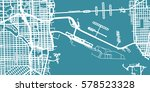 detailed vector map of miami ... | Shutterstock .eps vector #578523328