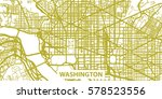 detailed vector map of... | Shutterstock .eps vector #578523556