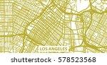 detailed vector map of los... | Shutterstock .eps vector #578523568