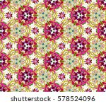 decorative hand drawn lace... | Shutterstock .eps vector #578524096