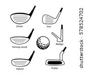 set of golf club icons graphic... | Shutterstock .eps vector #578524702