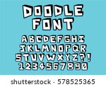 vector hand drawn doodle font... | Shutterstock .eps vector #578525365