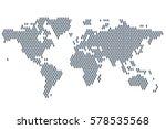 Global Population. World Map...
