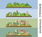 set of four illustration. wild... | Shutterstock .eps vector #578540638