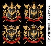 coat of arms. vector... | Shutterstock .eps vector #57854491