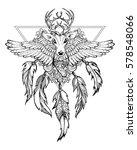 triangular sacral tattoo  wild ... | Shutterstock .eps vector #578548066