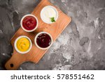 Classic Set Of Sauces In White...