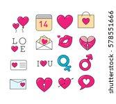 set for valentine's day | Shutterstock .eps vector #578551666