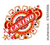 casino party vector game of... | Shutterstock .eps vector #578554006