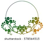 beautiful round gradient frame. ... | Shutterstock . vector #578564515