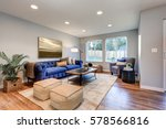 cozy light filled living space... | Shutterstock . vector #578566816