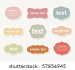 vector set of vintage frames | Shutterstock .eps vector #57856945