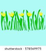 snowdrops pattern spring...   Shutterstock .eps vector #578569975