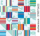 seamless pattern with hand... | Shutterstock .eps vector #578571622
