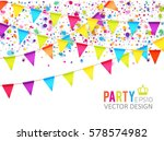 multicolored hanging garlands.... | Shutterstock .eps vector #578574982