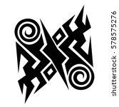 tribal designs. tribal tattoos. ... | Shutterstock .eps vector #578575276