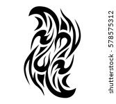 tattoo tribal vector designs... | Shutterstock .eps vector #578575312