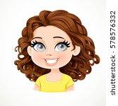 beautiful brunette girl with... | Shutterstock .eps vector #578576332