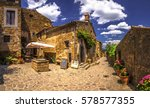 italy beauty  adorable street... | Shutterstock . vector #578577355