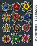 vector traditional tattoo... | Shutterstock .eps vector #578582302
