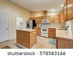 light open concept kitchen room ... | Shutterstock . vector #578583166