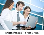 group of young business people... | Shutterstock . vector #57858706