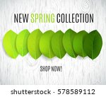new spring collection design.... | Shutterstock .eps vector #578589112