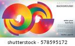 abstract vector background.... | Shutterstock .eps vector #578595172