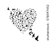 heart of birds. vector | Shutterstock .eps vector #578597452